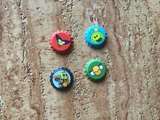 Tazo chapa angry birds grefusa