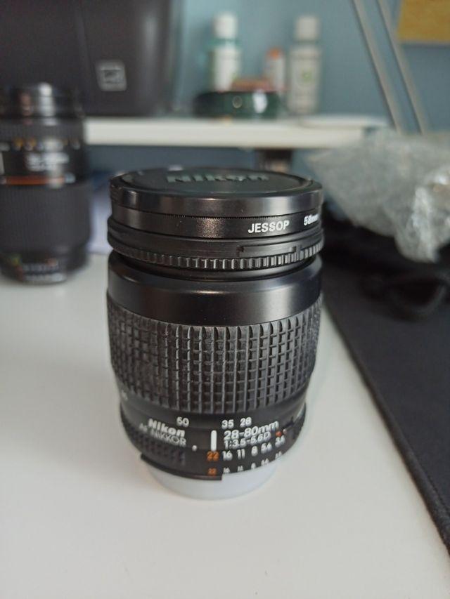 Objetivos Nikon 28-80, 35-135 y 70-300 mm