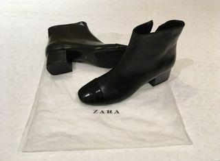 botas / botines negro zara