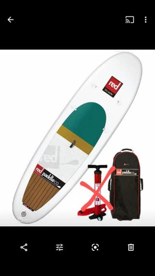RED Stand Up Paddle Board SUP surfer