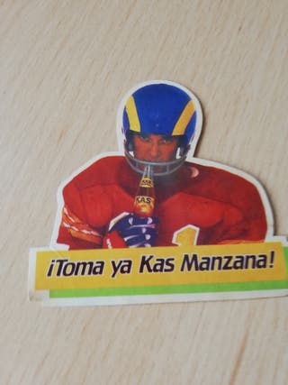 PEGATINA ADHESIVO PROMOCIONAL KAS MANZANA