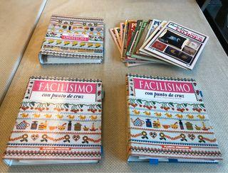 GRAN colección libros y revistas Punto de Cruz