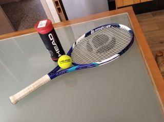 Raqueta tenis Artengo y pelotas regalo