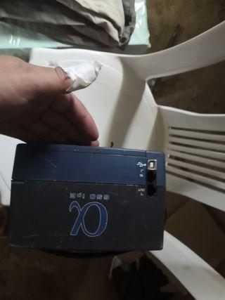 bateria para conectar enchufes