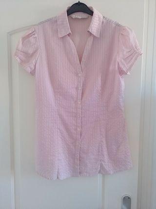 Camisa Stradivarius Rosa