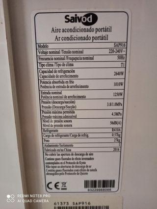 Aire Acondicionado portatil Saivod