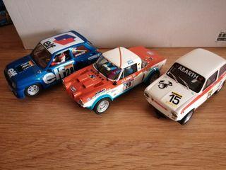 3 coches Scalextric clásicos