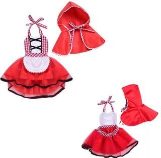 disfraz niña bebé nuevo Caperucita Roja