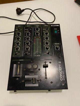 Mesa de mezclas , dj Ecler