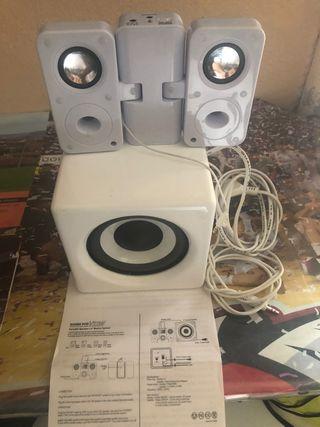 Altavoz portátil con amplificador