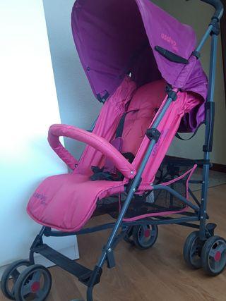 silla de paseo rosa