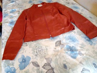 Cazadora rojo naranja