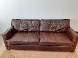 Sofá Vintage de Cuero envejecido
