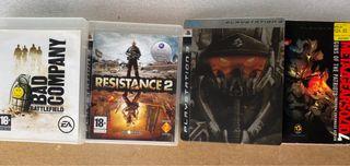 Lote cuatro juegos PS3