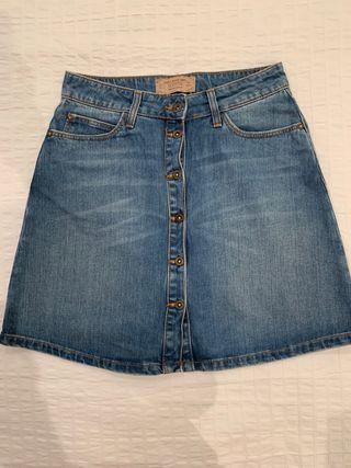 Mini falda denim Zara talla S