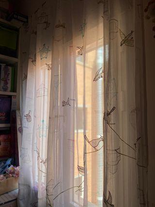 Cortinas-visillo infantiles tela Zara Home