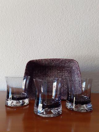 vasos Whisky y cesta Nuevos
