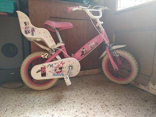 bicicleta de Disney rosa