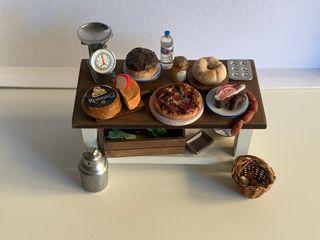 Casa de muñecas mesa para cocina escala 1:12