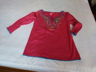 Camisa FLAMENCO talla S. Ganchillo, bordados...