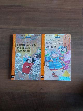 2 libros de El Capitán Garrapata