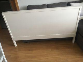 Cabecero blanco Ikea cama 1,50