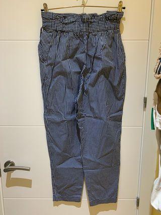 Pantalón Vichy zara
