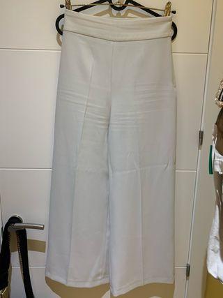 Pantalón culotte blanco zara