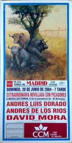 CARTEL DE TOROS DE MADRID 20/7/2004.