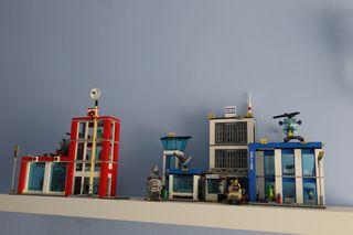 LEGO CITY-Comisaría de policía+Parque de bomberos.