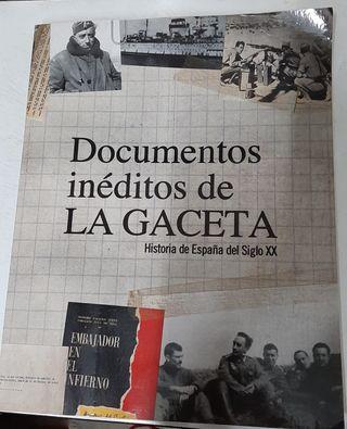 Libro Documentos inéditos de la Gaceta- Historia