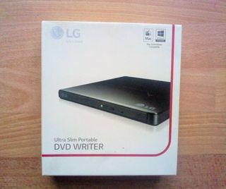 Lectora y Grabadora Ultra Slim de CD/DVD LG