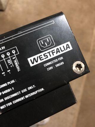 Westfalia cargador baterias