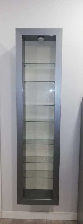 Vitrina con puerta de cristal