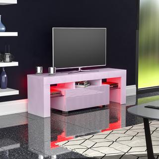 mUeble de TV LED Luna Soporte 1 Cajón Del Gabinete