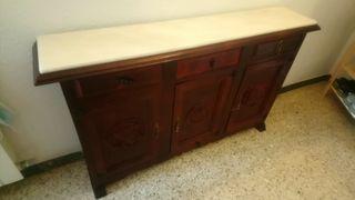 Mueble recibidor madera