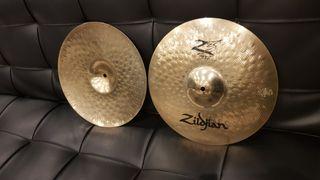 Platos hi-hat Zildjian Z3 y ride Meinl Mb20