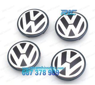 KIT DE 4 LOGOS REDONDOS LLANTA VOLKSWAGEN VW