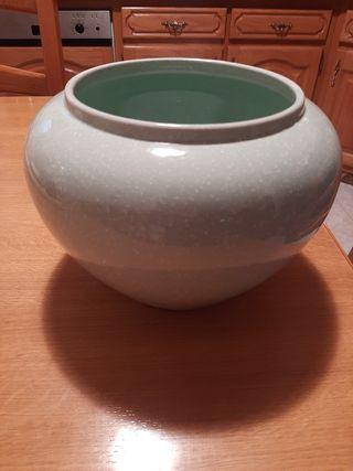 sin estrenar maceta ceramica verde agua