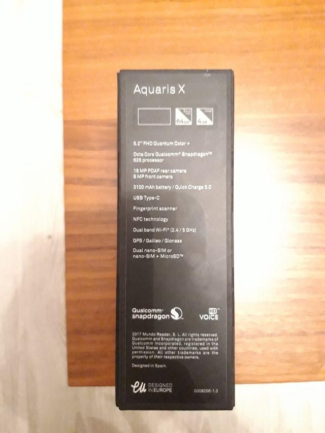 BQ Aquaris X 64GB color negro