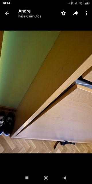 Mueble literas plegable 32 cm fondo