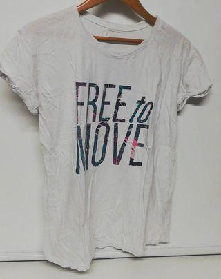 Camiseta algodon manga corta blanca Oysho talla L