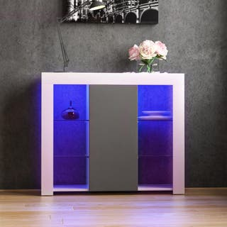 Azura LED Aparador 1 puertas de gran almacenamient