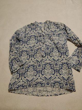 Blusa estampada algodón talla M.