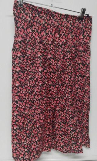 Falda midi floral algodon Lingam talla M