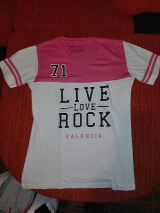 camiseta chica hard rock Valencia