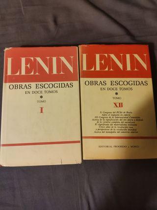 Lenin Obras Escogidas Tomo 1 y 12