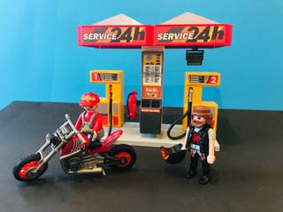 Gasolinera + Moto Chopper Playmobil