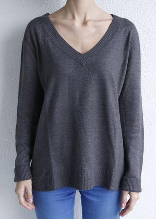 Jersey gris punto medio - fino