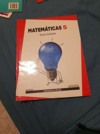 libro matemáticas 5 primaria 3 trimestre